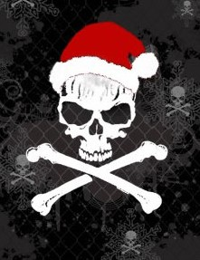 skull pirate christmas
