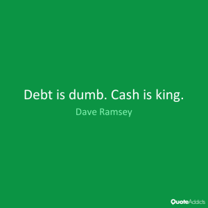 debt is dumb